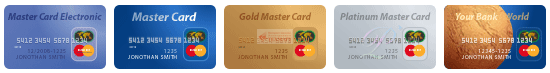 Payment credit card MasterCard