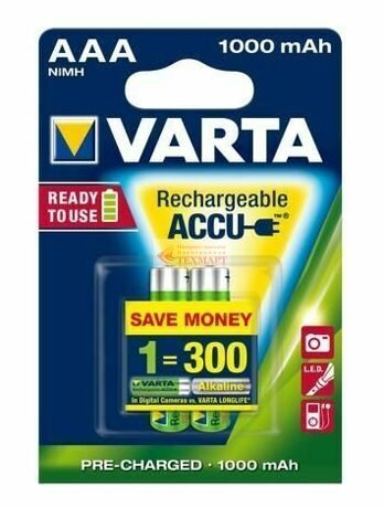 Аккумулятор AAA Varta Ready2Use 1000mAh 1.2V Ni-MH BL2